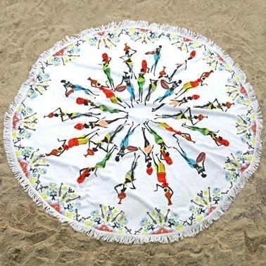 İrya Afrıcan Plaj Havlusu Renkli